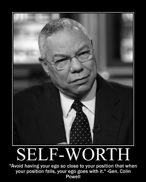 colin powell ego quote motivational poster