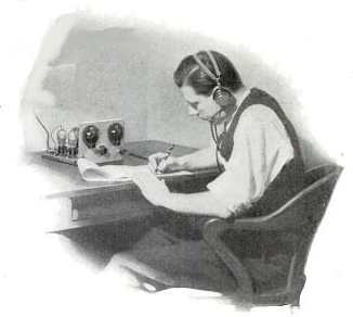 vintage ham radio operator illustration drawing