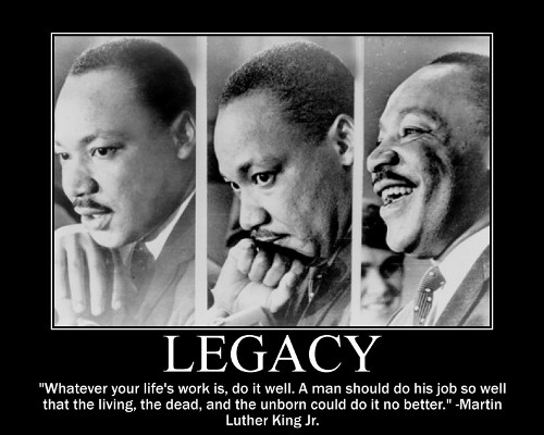 mlk martin luther king life's work quote motivational poster