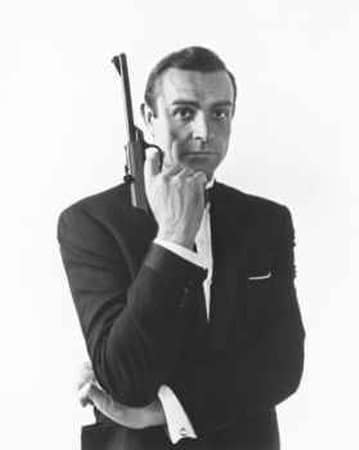 sean connery james bond portrait pistol