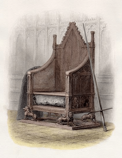 Chair of throne illustration.