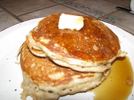 Buckwheat buttermilk pancakes.