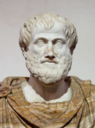 aristotle marble bust ancient greek philosophers
