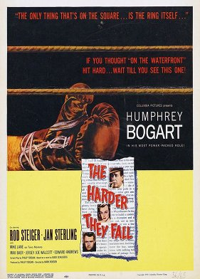 the harder they fall movie poster bogart