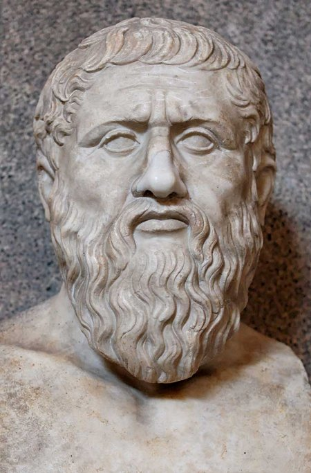 plato marble bust ancient greek philosophers