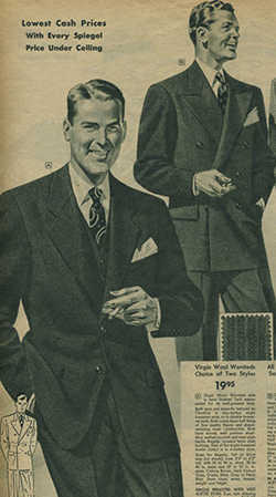 vintage suit ad advertisement from newspaper illustration