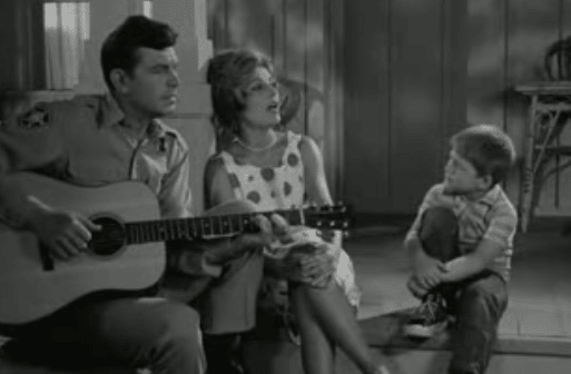 andy griffith show playing guitar around family