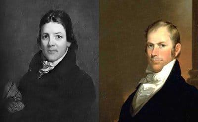 Henry Clay and John Randolph portraits.