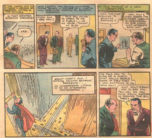 Superman actions illustration.
