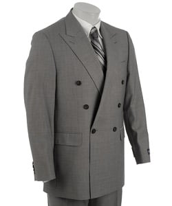double breasted 6x1 suit charcoal gray