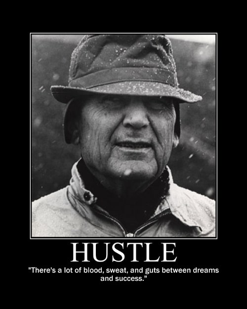 paul bear bryant blood sweat guts quote motivational poster