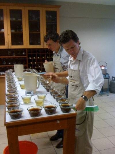 mark inman coffee buyer tasting product samples