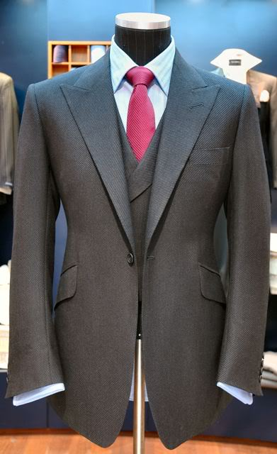 single breasted one button charcoal gray suit