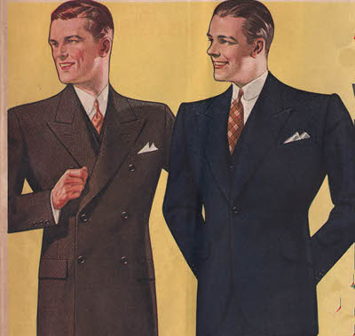 vintage suit advertisement ad illustration