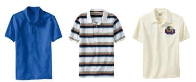 Polo shirt formality comparisons solid striped logo.