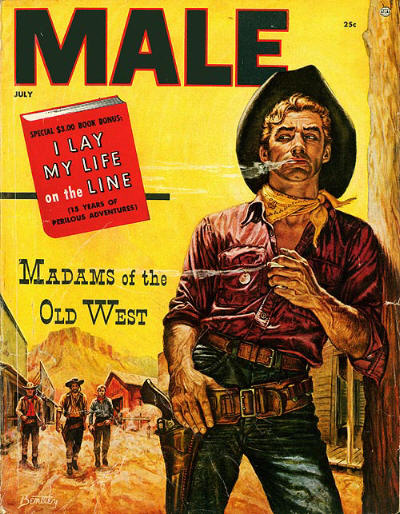 vintage male magazine cover men's pulp