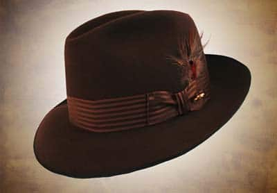 Brown fedora men's hat.