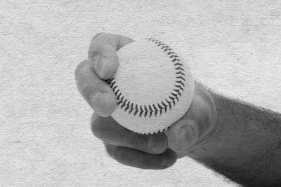 curveball baseball pitch how to grip vintage photo