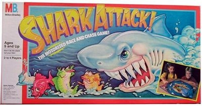 shark attack board game milton brothers