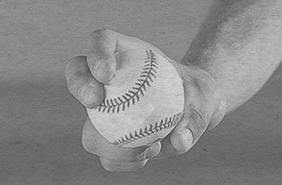 slider baseball pitch how to grip vintage photo