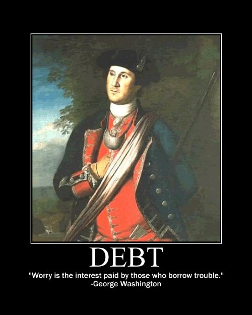 george washington worry trouble quote motivational poster
