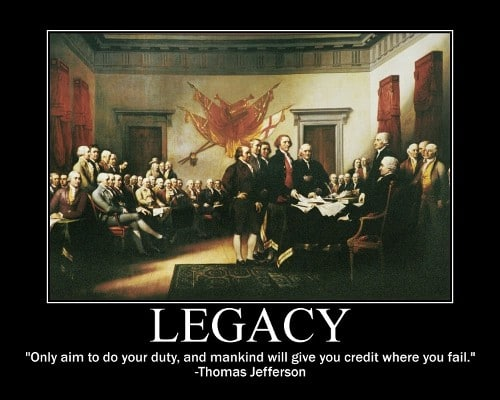 thomas jefferson duty credit quote motivational poster