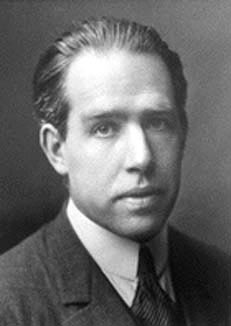 Niels Bohr soccer player potrait.