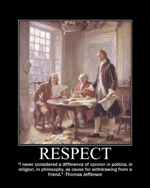 thomas jefferson difference in opinion quote motivational poster