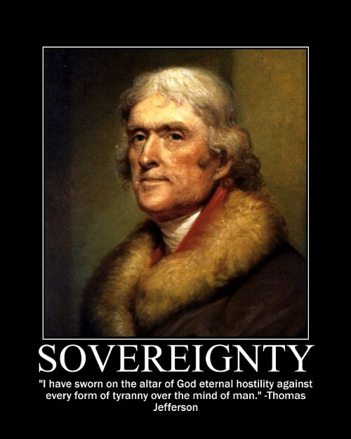 thomas jefferson hostility tyranny quote motivational poster