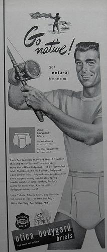 vintage underwear ad men utica bodyguard briefs