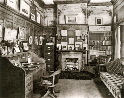 Andrew Carnegie's study office in central park, New York.