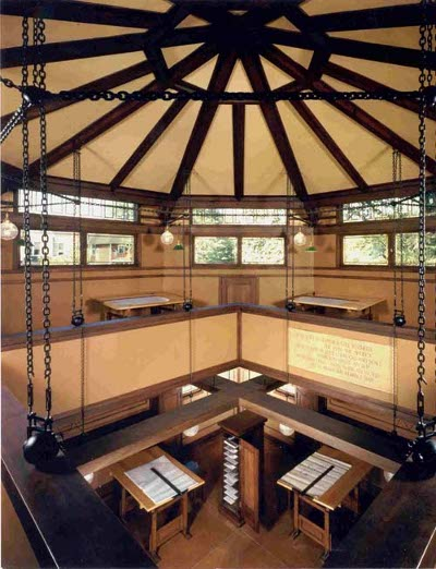 Frank Lloyd wright's drafting studio in oak park Illinois.