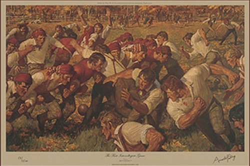 1st intercollegiate game painting arnold friberg