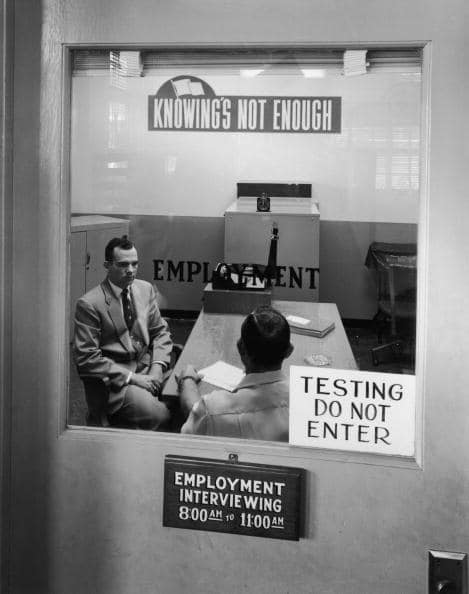 vintage job interview mid 20th century