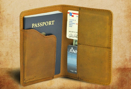 saddleback leather passport wallet