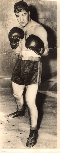 rocky marciano boxing post gloves shorts