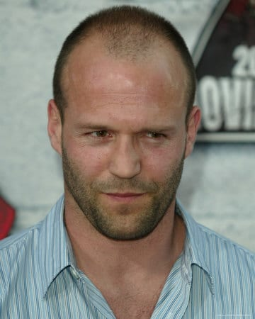 Jason statham with short hair.