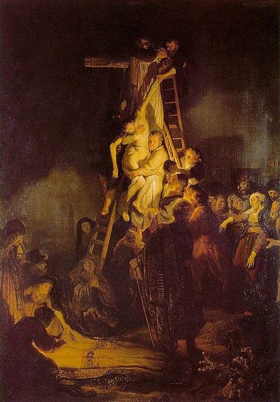 Descent from the Cross painting Rembrandt 1634