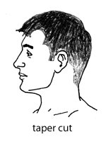taper cut haircut illustration diagram talk to barber