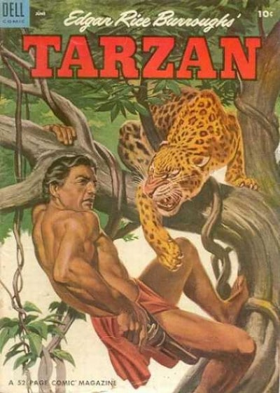 tarzan comic book cover jaguar edgar rice burroughs