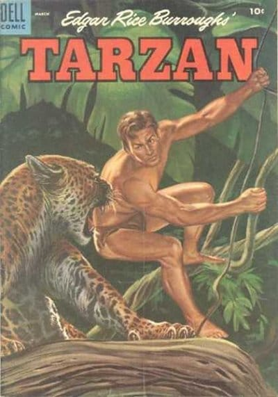 tarzan comic cover edgar rice burroughs