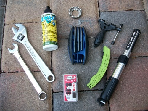 tools and gear to fix bide on a long ride