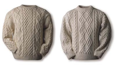 Murphy Oneil sweater examples cable heavy knit