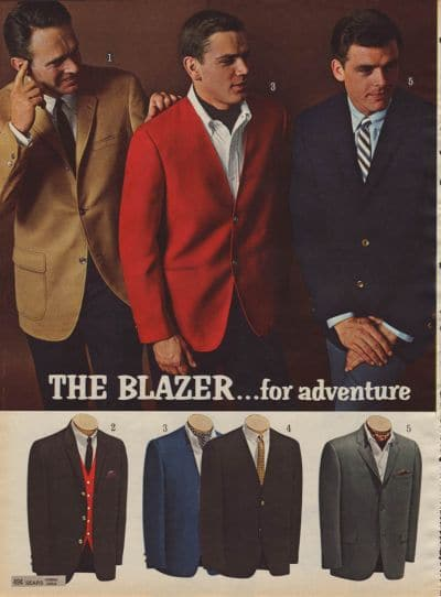 vintage blazer ad advertisement sears 1960s suits