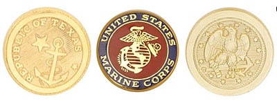 Blazer Buttons types marines texas american eagle