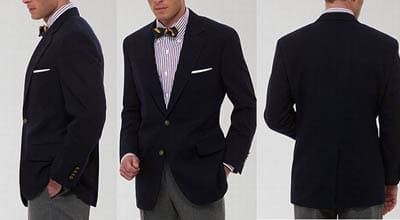 blazer jacket fit bow tie shoulders