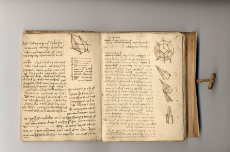 leonardo da vinci notebooks journals writing drawings