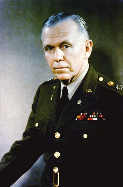 George Marshall in military uniform portrait.