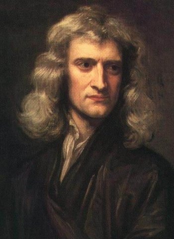 isaac newton painting portrait long hair