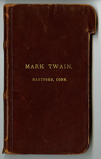 Notebook cover of Mark Twain.